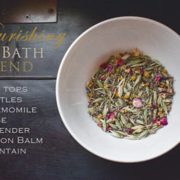 nourishing herbal bath blend